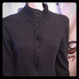 ❄️Sweater Zip Gray Cardigan ❄️Fine Merino Wool ❄️